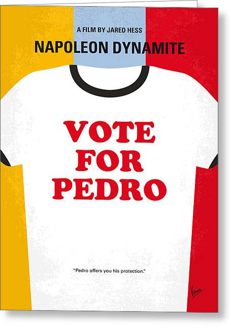 Pedro Greeting Cards - No430 My Napoleon Dynamite minimal movie poster Greeting Card by Chungkong Art