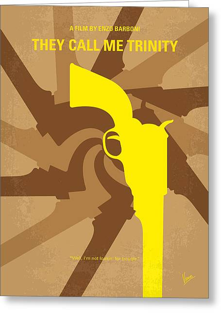 Bud Greeting Cards - No431 My They Call Me Trinity minimal movie poster Greeting Card by Chungkong Art