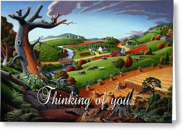 Regionalism Greeting Cards - no9 Thinking of you Greeting Card by Walt Curlee