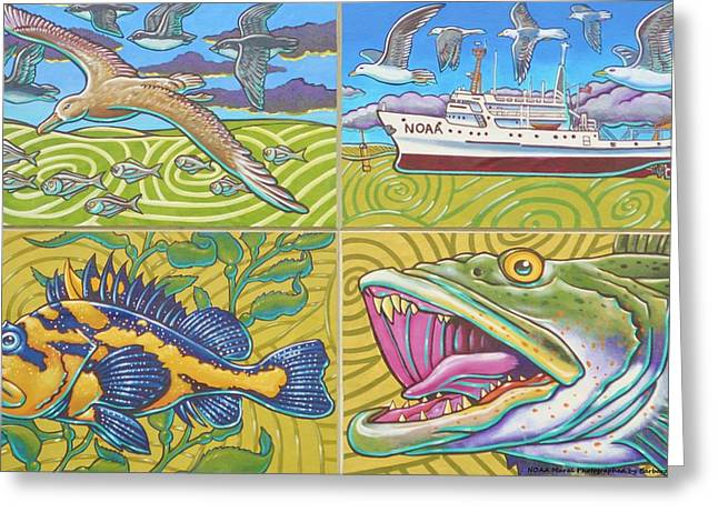 Noaa Greeting Cards - NOAA Mural Greeting Card by Unknown