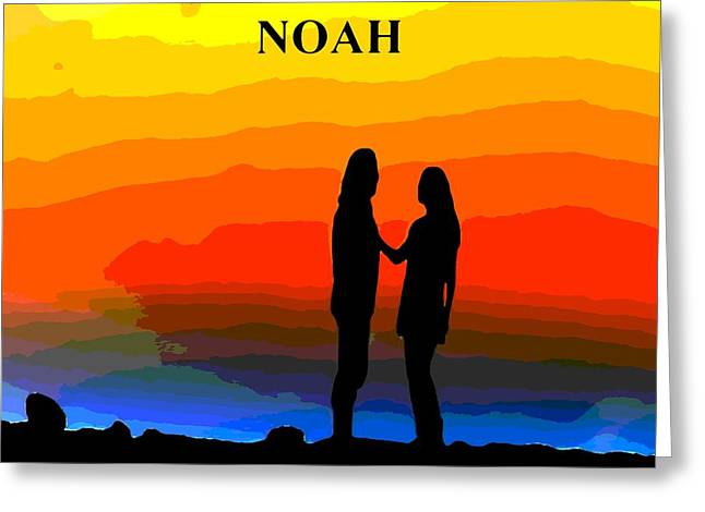 Floods Mixed Media Greeting Cards - Noah Movie Poster Greeting Card by Dan Sproul