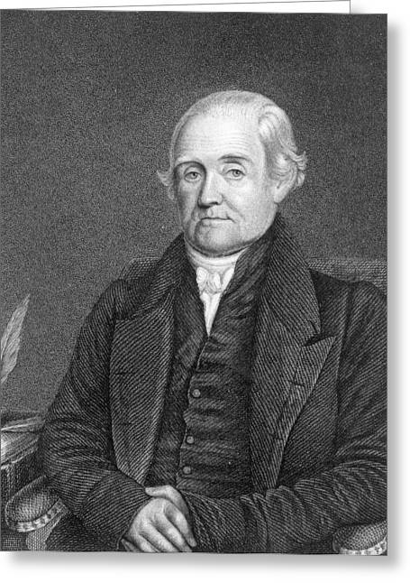 Dictionary Greeting Cards - Noah Webster 1758-1843 Engraved By G. Parker Engraving B&w Photo Greeting Card by James Herring
