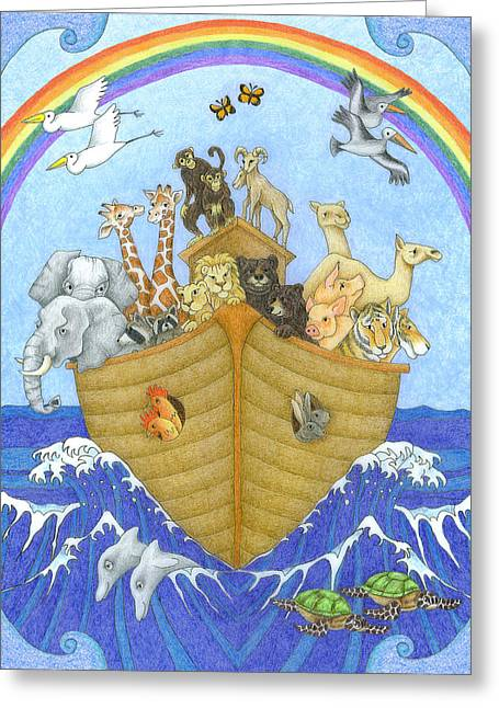 Noah's Ark Greeting Card by Alison Stein