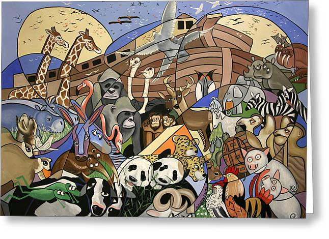 Bible Digital Art Greeting Cards - Noahs Ark Greeting Card by Anthony Falbo