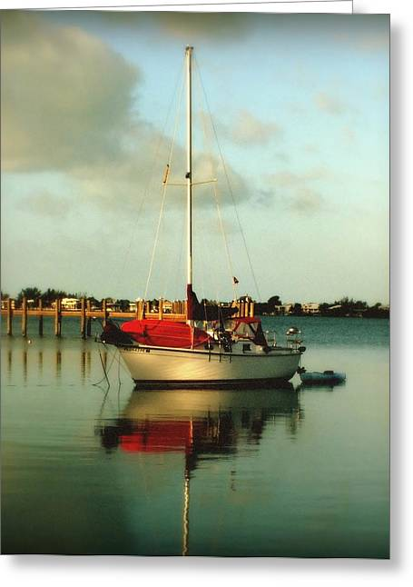Boats On Water Greeting Cards - Noahs Jubilee Greeting Card by Karen Wiles