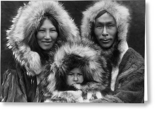 Eskimo Greeting Cards - Noatak Indians circa 1929 Greeting Card by Aged Pixel