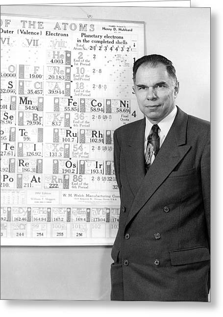 Nobel Winner Glenn Seaborg Greeting Card by Underwood Archives