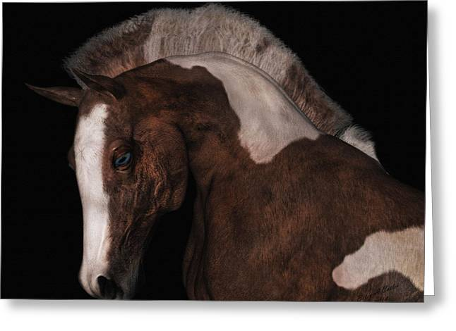 Fur Stripes Greeting Cards - Noble Greeting Card by Betsy C  Knapp