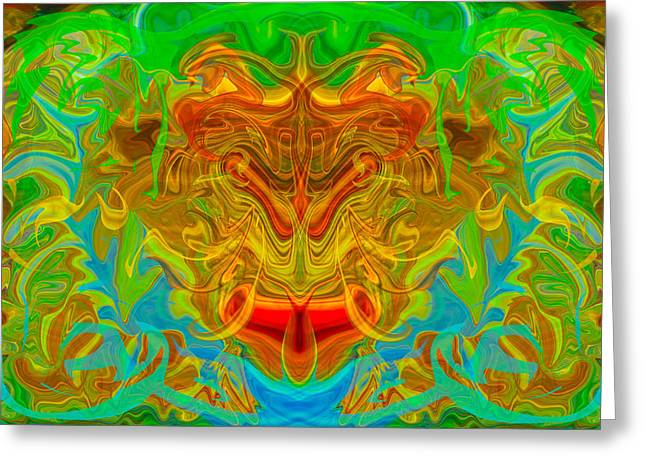 Winthrop Digital Art Greeting Cards - Noble Lion Greeting Card by Omaste Witkowski