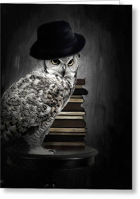 Owl Decor Greeting Cards - Noble One Greeting Card by Lourry Legarde