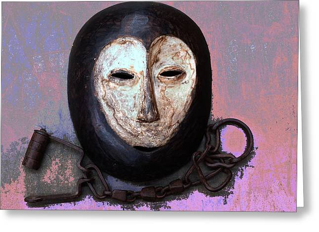 Manacles Greeting Cards - Nobodys Slave Greeting Card by Lorenzo Williams