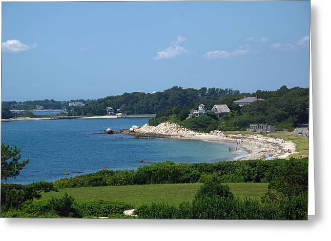 Nobska Beach Greeting Card by Barbara McDevitt