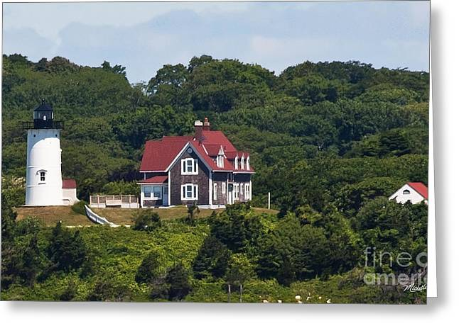 Keepers House Greeting Cards - Nobska Lighthouse Cape Cod Greeting Card by Michelle Wiarda