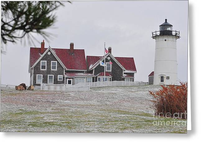 Falmouth Massachusetts Greeting Cards - Nobska Lighthouse  Greeting Card by Catherine Reusch  Daley
