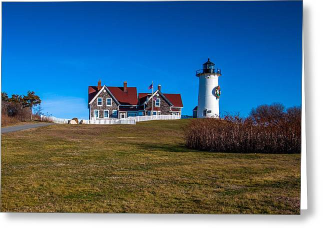 Cape Cod Mass Greeting Cards - Nobska Point Greeting Card by Brian MacLean