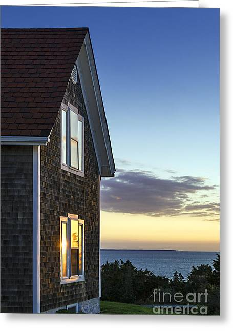 Keepers House Greeting Cards - Nobska Point Light Keepers House Greeting Card by John Greim