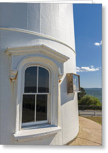 Cape Cod Mass Greeting Cards - Nobska Point Lighthouse Cape Cod Greeting Card by Marianne Campolongo