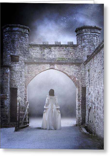 Castle Gates Greeting Cards - Noctambulism Greeting Card by Joana Kruse