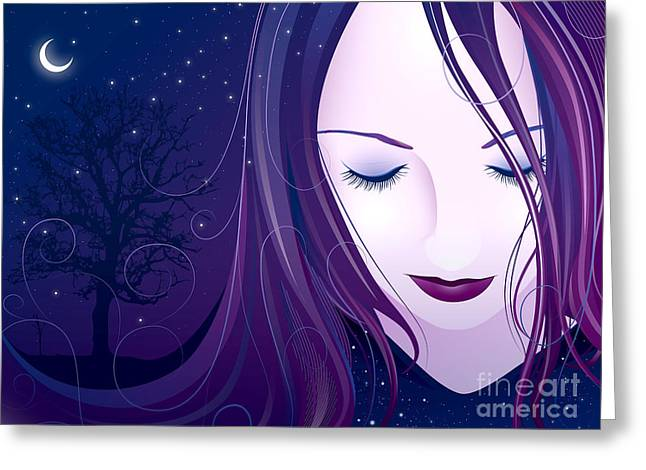 Nocturn Greeting Card by Sandra Hoefer