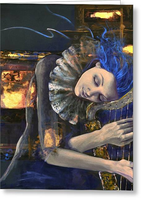 Love Laces Greeting Cards - Nocturne Greeting Card by Dorina  Costras