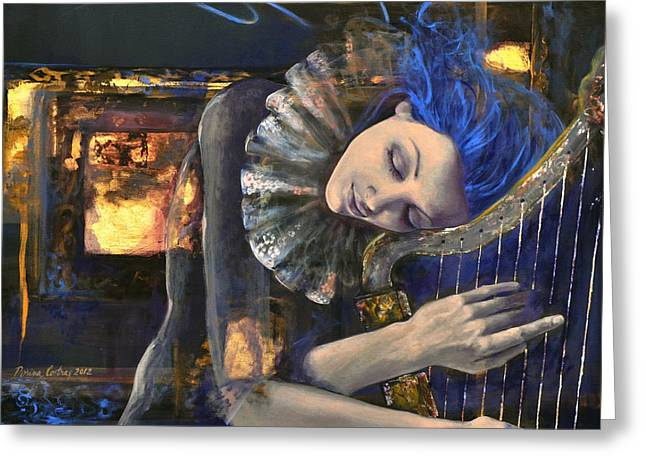 Nocturne Greeting Card by Dorina  Costras