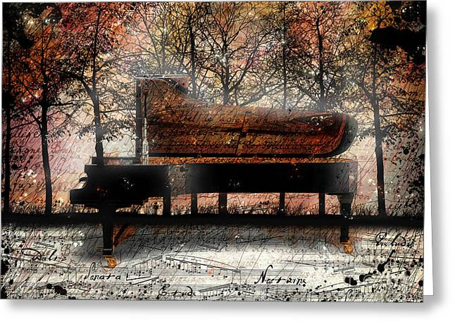Piano Greeting Cards - Nocturne II Greeting Card by Gary Bodnar