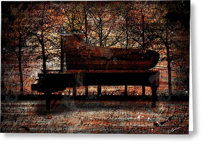 Music Print Greeting Cards - Nocturne I Greeting Card by Gary Bodnar