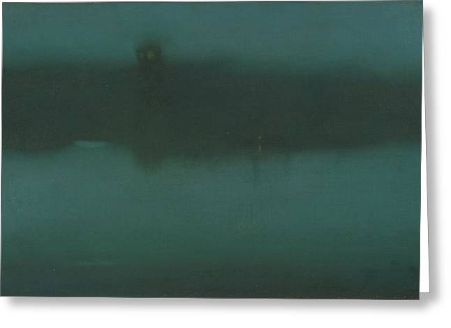 James Abbott Mcneill Whistler Greeting Cards - Nocturne Greeting Card by James Abbott McNeill Whistler