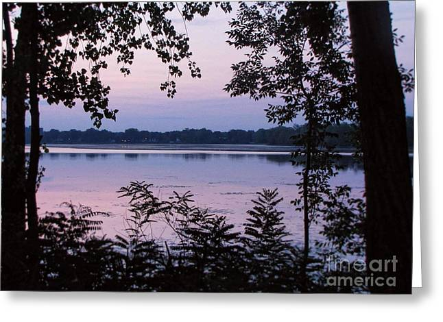 Nocturne Lake Greeting Card by Samuel Lefebvre