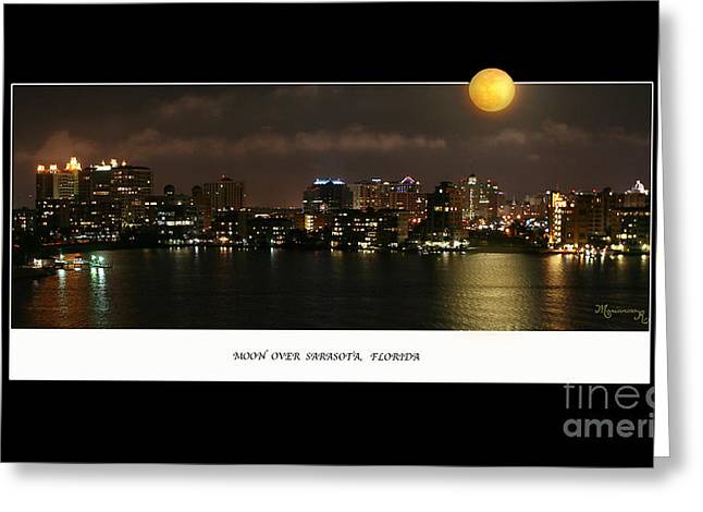 Moonrise Greeting Cards - Nocturne Greeting Card by Mariarosa Rockefeller