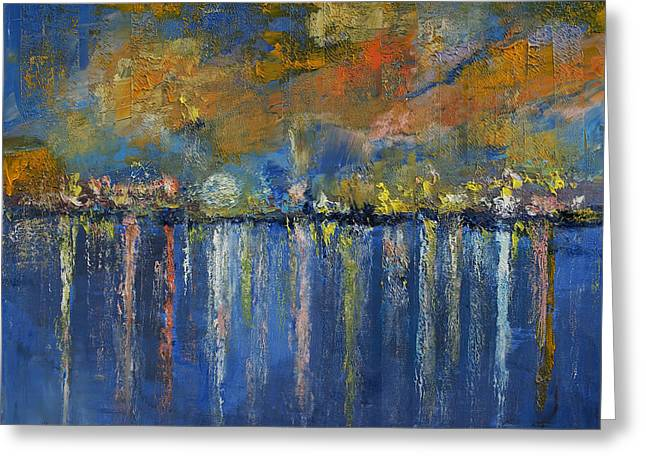 Abstract Seascape Greeting Cards - Nocturne Greeting Card by Michael Creese