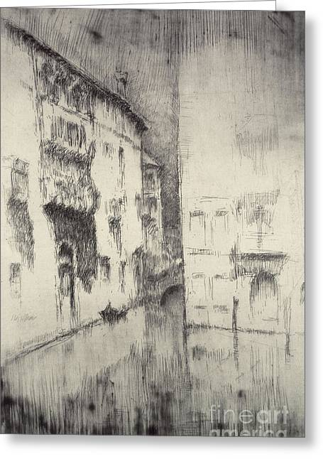 Dilapidated Paintings Greeting Cards - Nocturne Palaces Greeting Card by James Abbott McNeill Whistler
