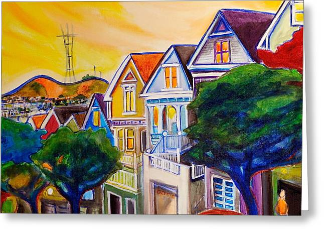 Recently Sold -  - Victorian Greeting Cards - Noe Valley  Greeting Card by Nathalie Fabri