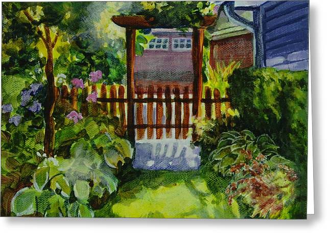 Arbour Greeting Cards - Noelles Garden 1 Greeting Card by Sue  Darius