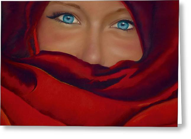 Hidden Face Greeting Cards - Noemie Greeting Card by Marie-Claire Dole