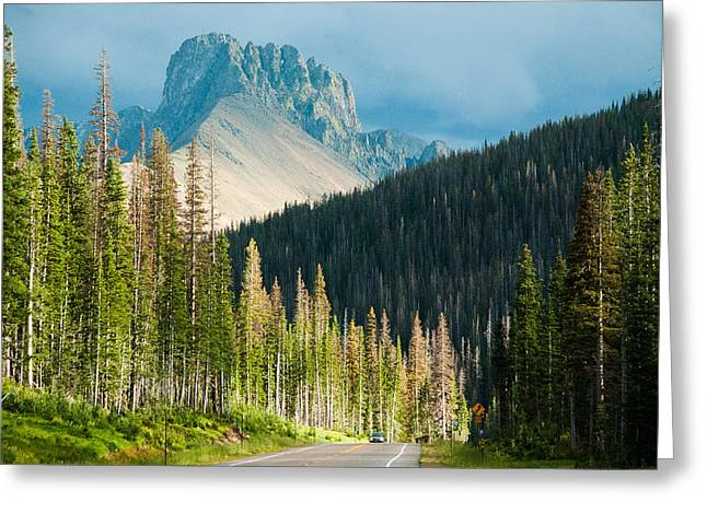 Geobob Greeting Cards - Nohku Crags Summer Storm Cameron Pass Rocky Mountains Northern Colorado Greeting Card by Robert Ford