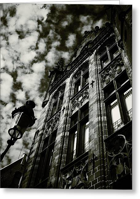 Noir Moment In Brugges Greeting Card by Connie Handscomb