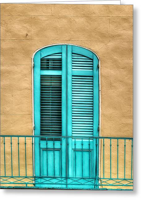 French Door Greeting Cards - NOLA Balcony Greeting Card by Brenda Bryant