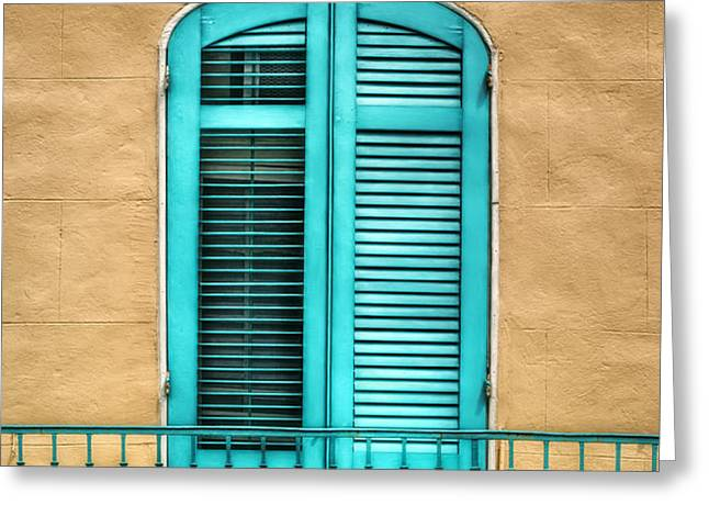 NOLA Balcony Greeting Card by Brenda Bryant