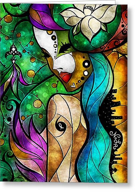 Nola Greeting Card by Mandie Manzano