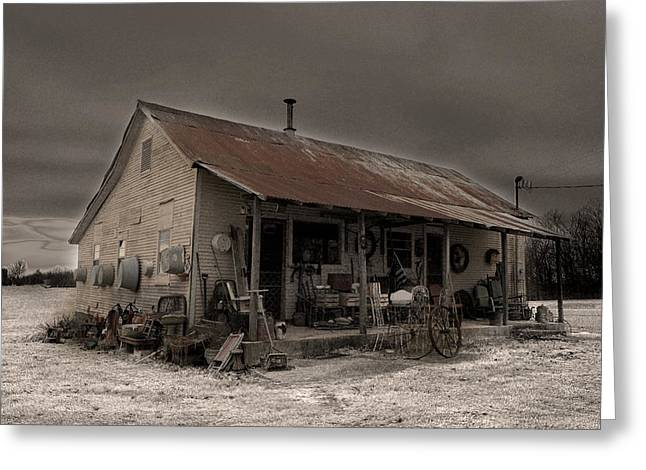 Historic Country Store Digital Art Greeting Cards - Noland Country Store Greeting Card by William Fields