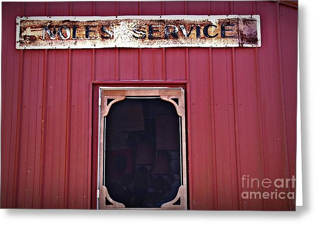 Noles Service Old Sign Greeting Card by JW Hanley
