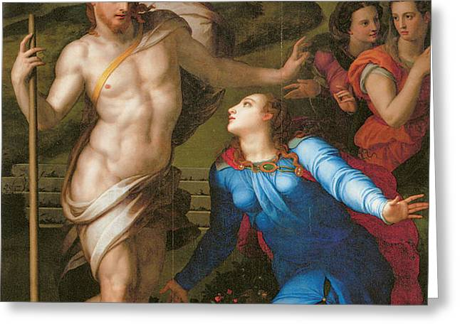 Noli Me Tangere Greeting Card by Agnolo Bronzino
