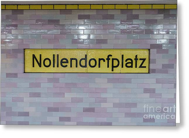 Decorate Greeting Cards - Nollendorfplatz Greeting Card by Jannis Werner