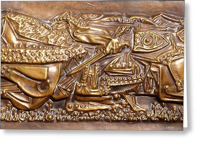 Mural Reliefs Greeting Cards - Nomad Greeting Card by Gyula Friewald