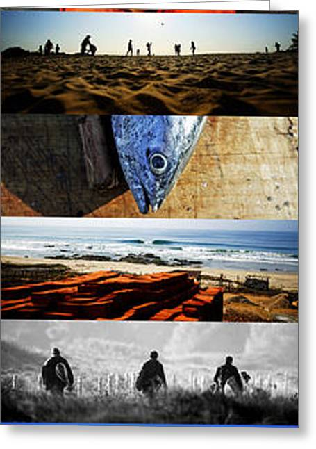 Blue Green Wave Greeting Cards - Nomad Life Greeting Card by Emilio Lopez