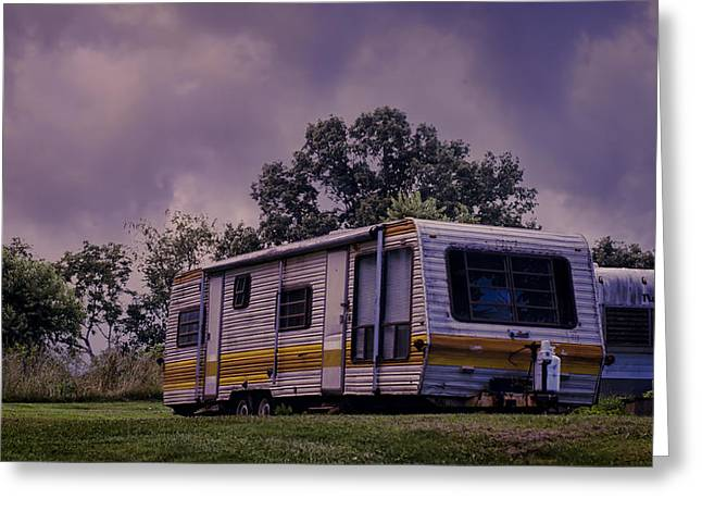Trailer Park Greeting Cards - Nomads No More Greeting Card by Heather Applegate