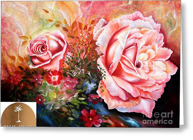 Shower Curtain Greeting Cards - Nomination Title Divine Rose Greeting Card by  ILONA ANITA TIGGES - GOETZE  ART and Photography
