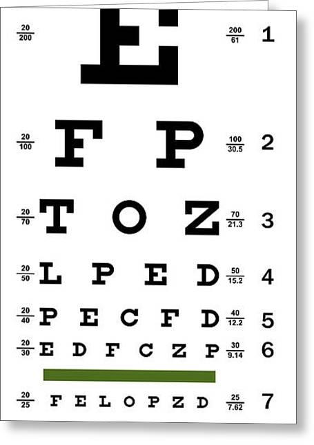 Sight See Greeting Cards - Non-traditional Eye Chart Greeting Card by Daniel Hagerman