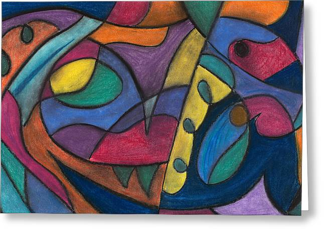 Abstract Movement Pastels Greeting Cards - None Greeting Card by Matt Howe